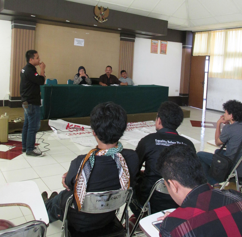 Dialog Mahasiswa dan Dekanat Fakultas Hukum